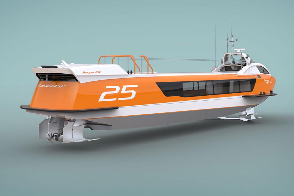 Пассажирское судно на подводных крыльях