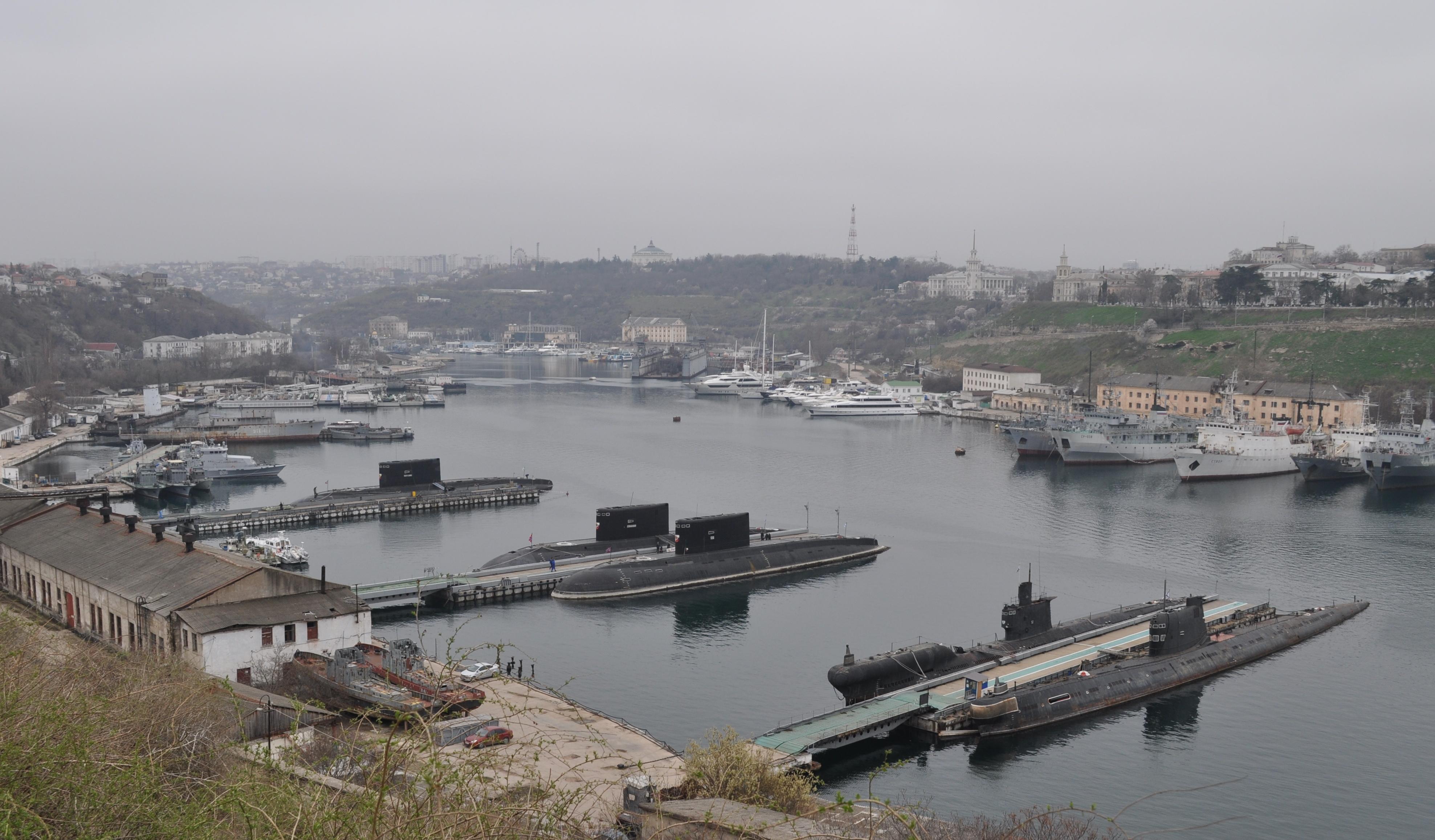 севастопольская бухта подводных лодок